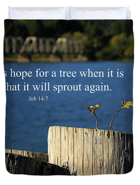 Hope For A Tree Duvet Cover by James Eddy