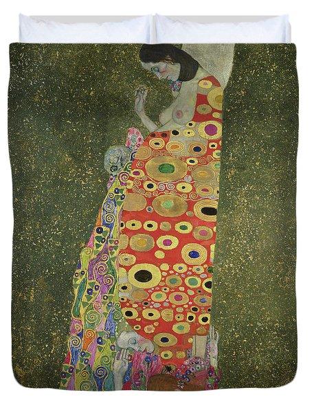 Hope II Duvet Cover by Gustav Klimt