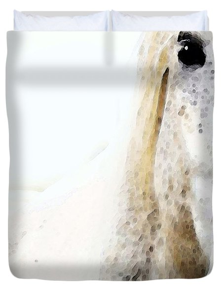 Horse Art - Waiting For You  Duvet Cover by Sharon Cummings