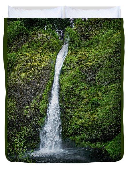 Horsetail Falls Duvet Cover by Jon Burch Photography