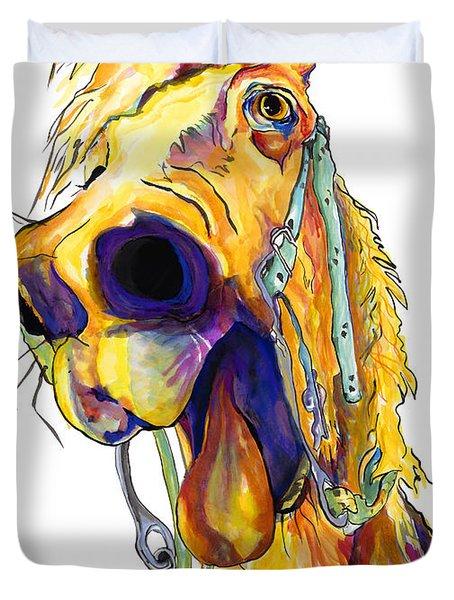 Horsing Around Duvet Cover by Pat Saunders-White
