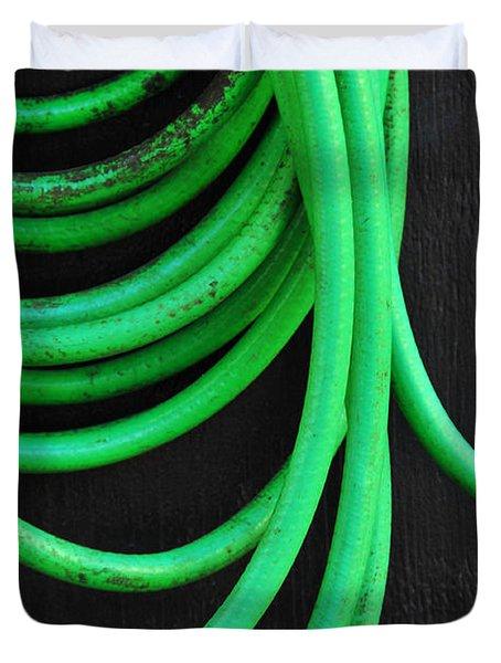 Hosed Duvet Cover by Skip Hunt