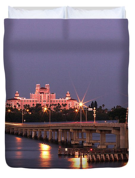 Hotel Don Cesar The Pink Palace St Petes Beach Florida Duvet Cover by Mal Bray