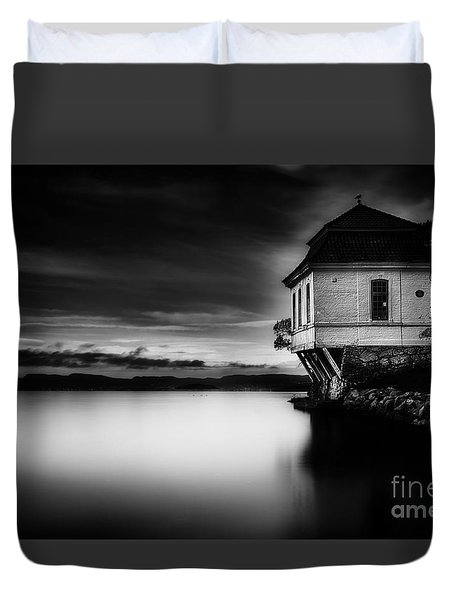 House By The Sea Duvet Cover by Erik Brede