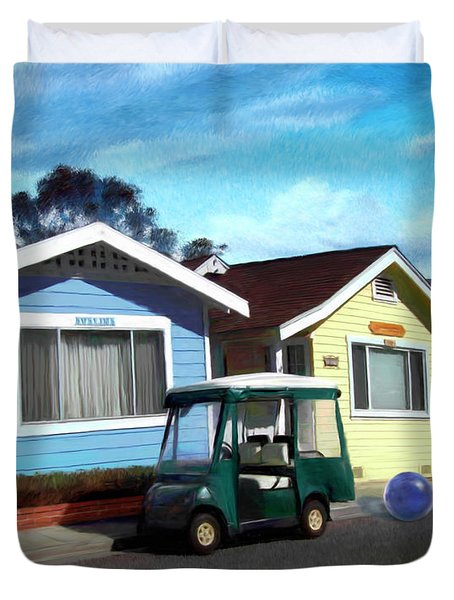 Houses In A Row Duvet Cover by Snake Jagger