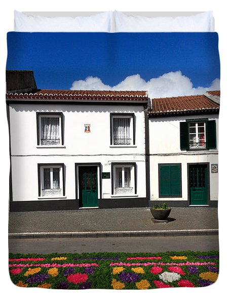 Houses In The Azores Duvet Cover by Gaspar Avila