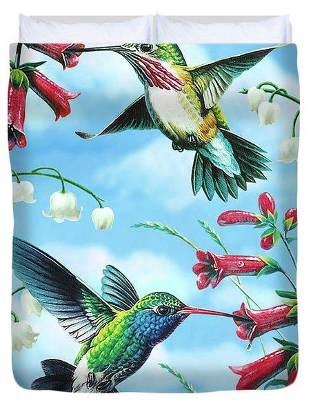 Humming Birds Duvet Cover by JQ Licensing