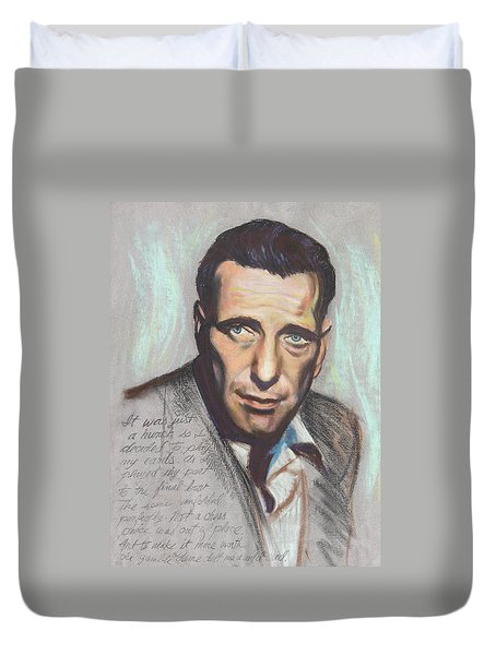 Humphrey Bogart  Not a chess piece was out of place Duvet Cover by Kean Butterfield