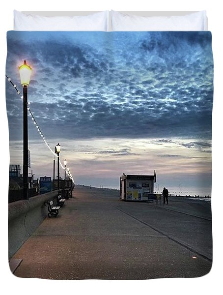 Hunstanton At 5pm Today  #sea #beach Duvet Cover by John Edwards