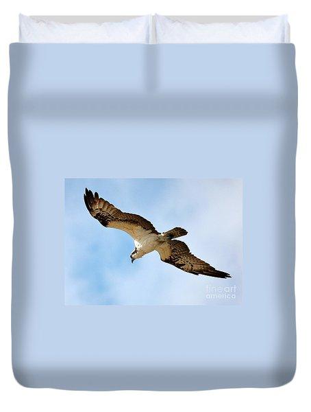 Hunter Osprey Duvet Cover by Carol Groenen