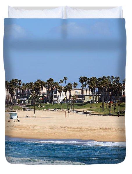Huntington Beach California Duvet Cover by Paul Velgos