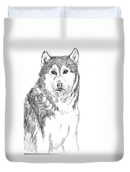 Husky Duvet Cover by Charme Curtin