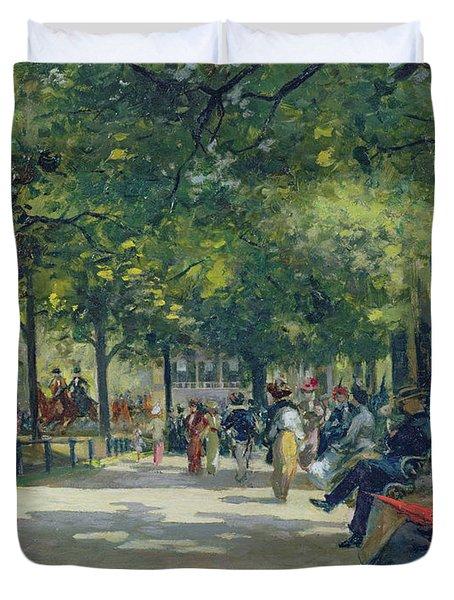 Hyde Park - London  Duvet Cover by Count Girolamo Pieri Nerli