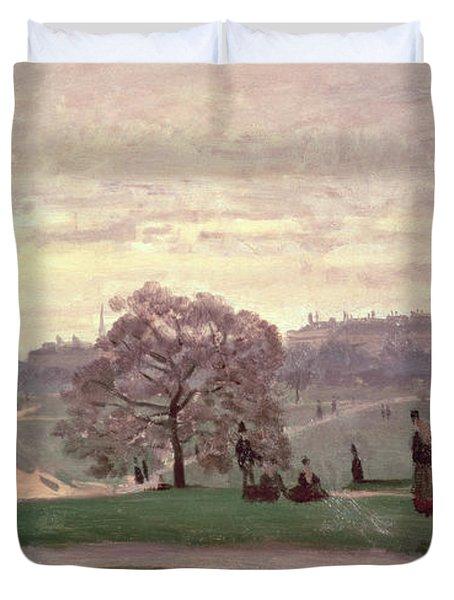 Hyde Park Duvet Cover by Claude Monet