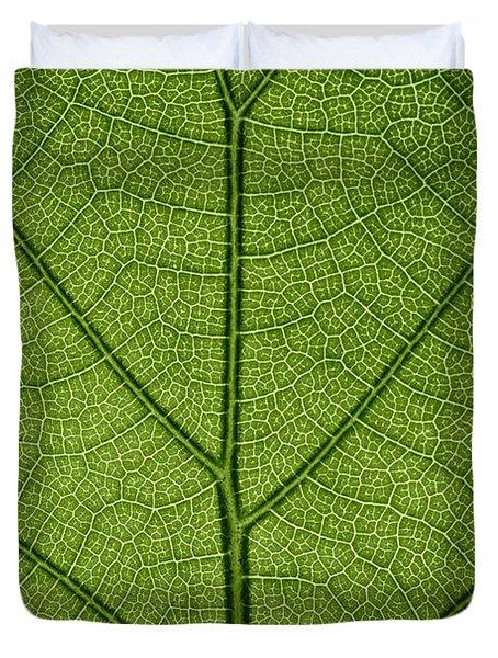 Hydrangea Leaf Duvet Cover by Steve Gadomski