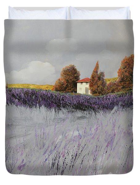 i campi di lavanda Duvet Cover by Guido Borelli