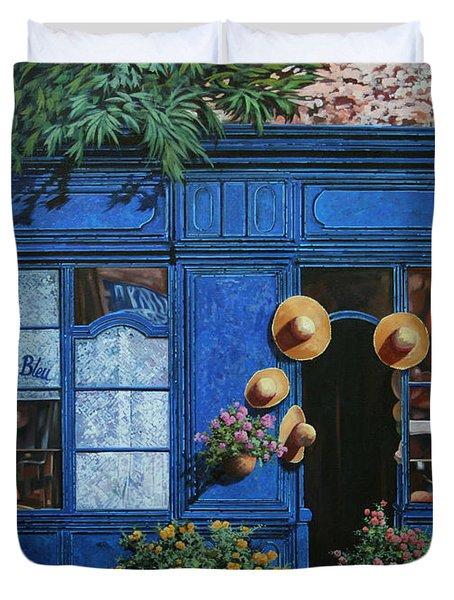 i cappelli gialli Duvet Cover by Guido Borelli