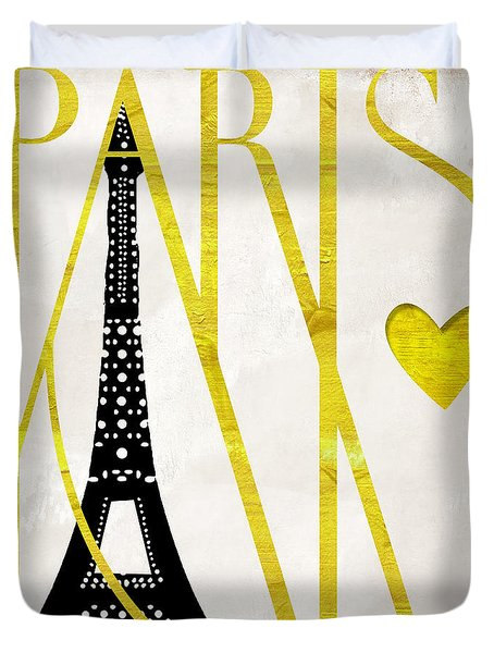 I Love Paris Duvet Cover by Mindy Sommers