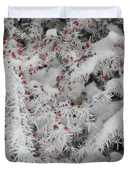 I Love Winter Duvet Cover by Carol Groenen