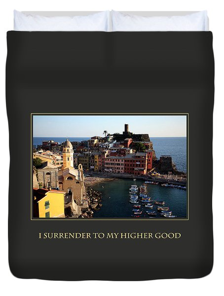 I Surrender To My Higher Good Duvet Cover by Donna Corless