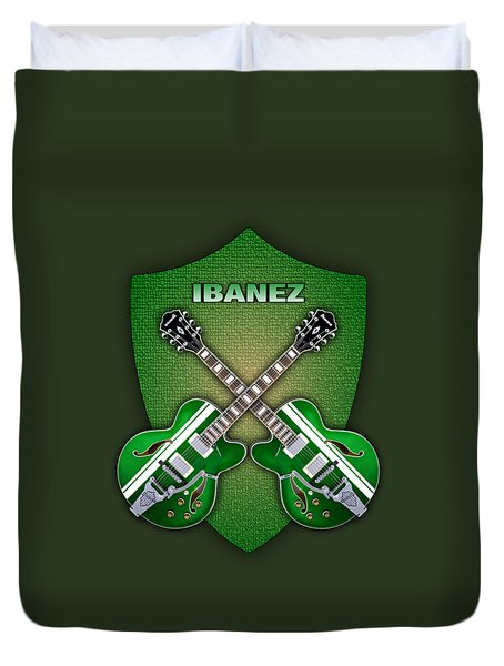 Ibanez Geen Shield Duvet Cover by Doron Mafdoos