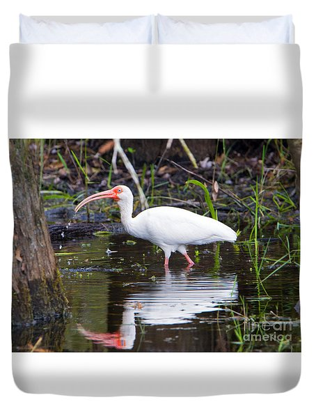 Ibis Drink Duvet Cover by Mike Dawson