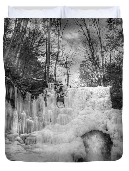 Ice Castle Duvet Cover by Lori Deiter