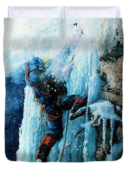 Ice Climb Duvet Cover by Hanne Lore Koehler