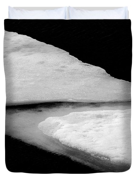 Ice Flow Duvet Cover by Dave Bowman
