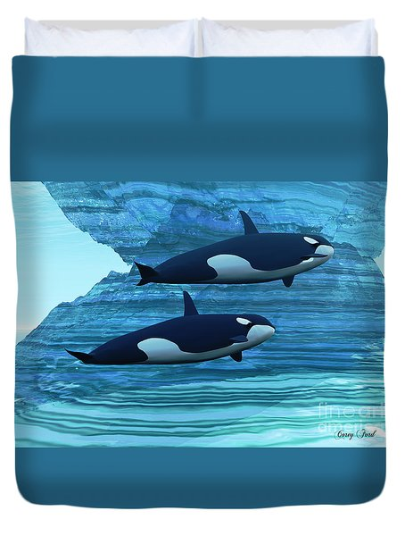 Ice Palace Duvet Cover by Corey Ford