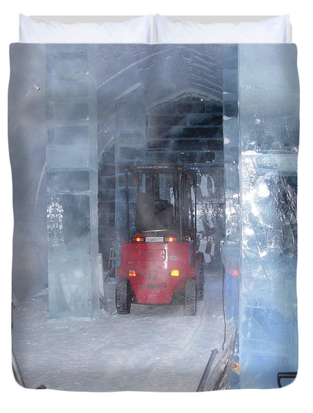 Ice Truck Duvet Cover by Maria Joy
