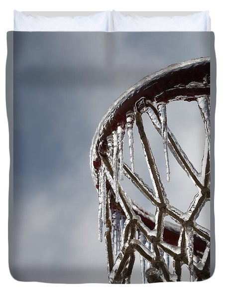 Icy Hoops Duvet Cover by Nadine Rippelmeyer