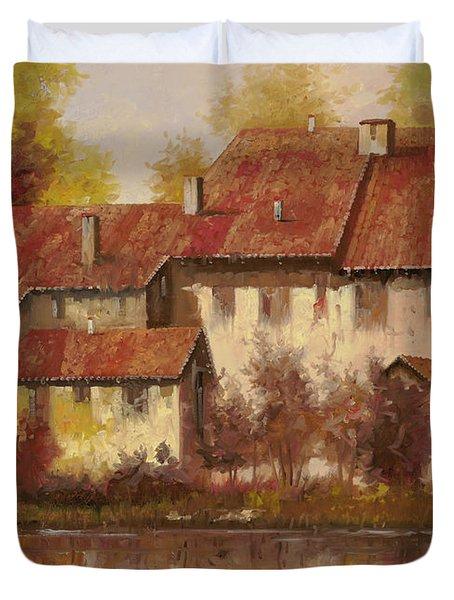 Il Borgo Rosso Duvet Cover by Guido Borelli