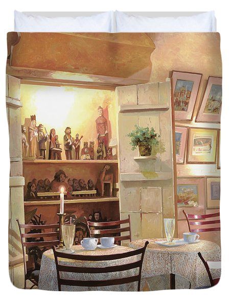 il caffe dell'armadio Duvet Cover by Guido Borelli