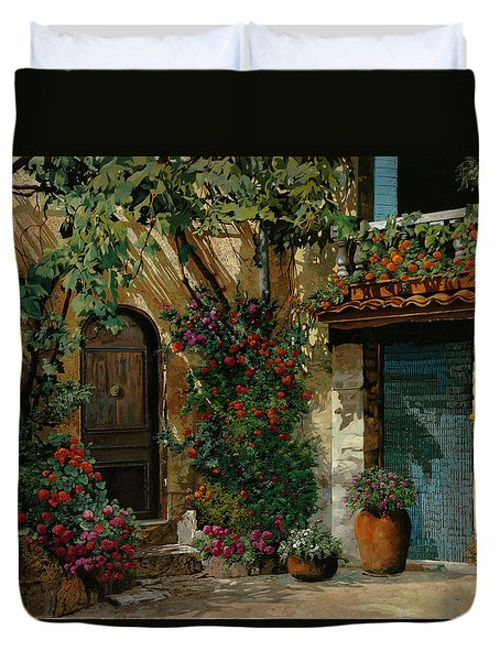 Il Giardino Francese Duvet Cover by Guido Borelli