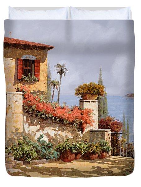 il giardino rosso Duvet Cover by Guido Borelli