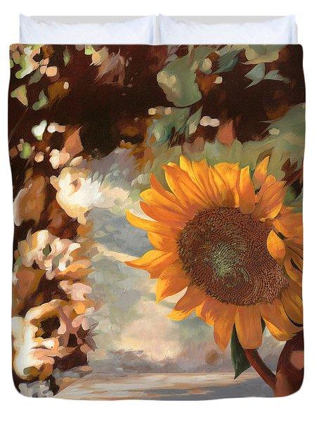 il girasole Duvet Cover by Guido Borelli