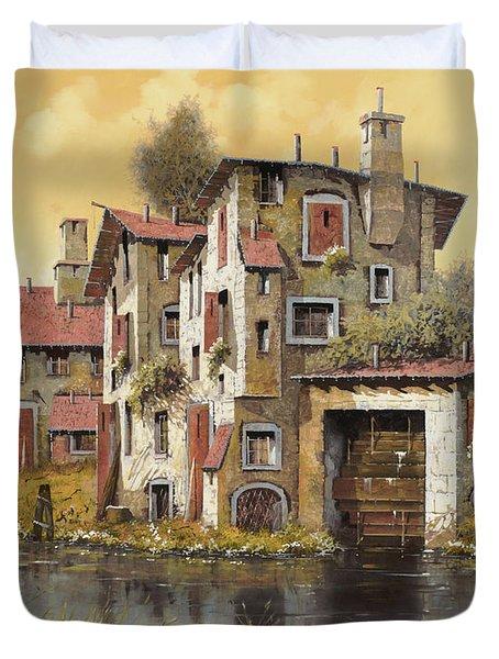 Il Mulino Giallo Duvet Cover by Guido Borelli