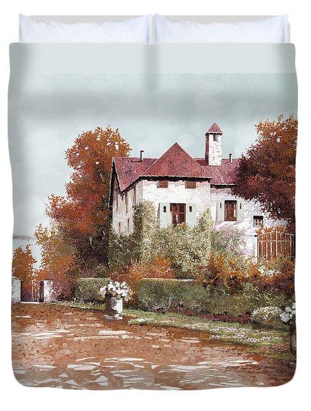 Il Palazzo In Autunno Duvet Cover by Guido Borelli