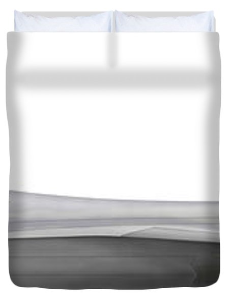 Illustration Of A Lockheed Martin F-22 Duvet Cover by Chris Sandham-Bailey