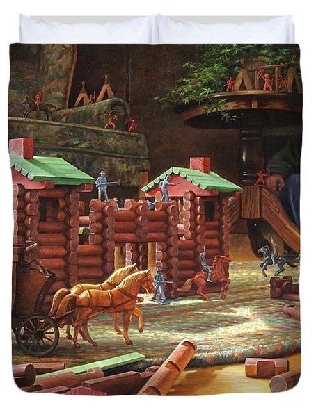 Imagination Final Frontier Duvet Cover by Greg Olsen