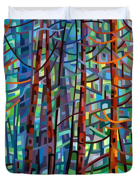 In A Pine Forest Duvet Cover by Mandy Budan