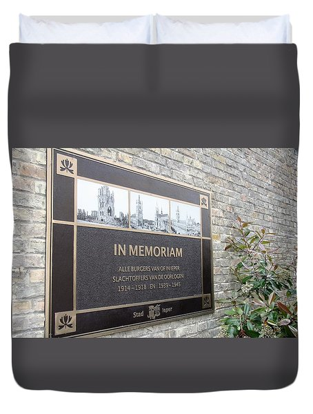 Duvet Cover featuring the photograph In Memoriam - Ypres by Travel Pics