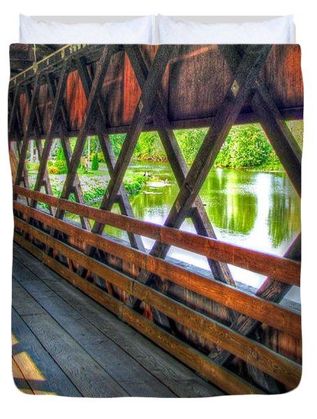 In The Bridge Duvet Cover by Jackie Novak