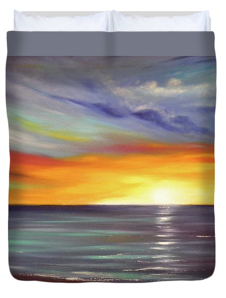 In The Moment Duvet Cover by Gina De Gorna