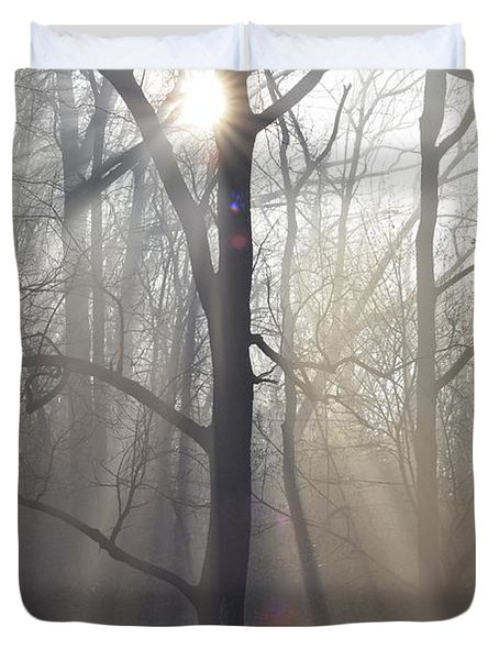 In the Morning Duvet Cover by Bill Cannon