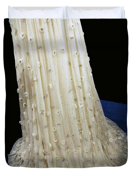 Inaugural Gown Train On Display Duvet Cover by LeeAnn McLaneGoetz McLaneGoetzStudioLLCcom