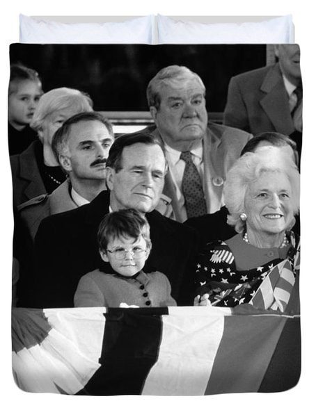 Inauguration Of George Bush Sr Duvet Cover by H. Armstrong Roberts/ClassicStock