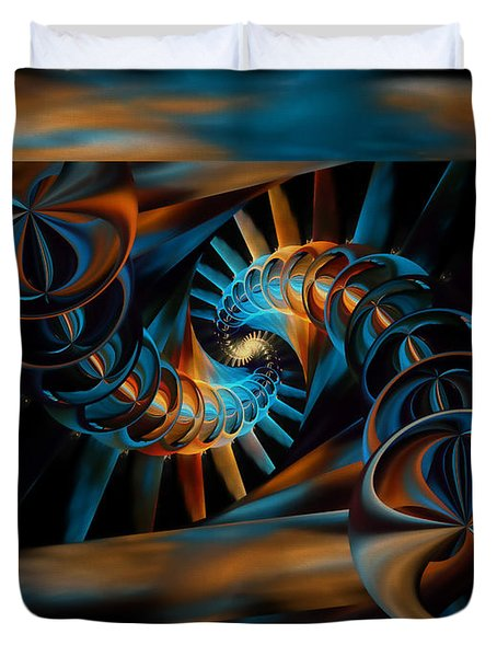 Inception Abstract Duvet Cover by Olga Hamilton