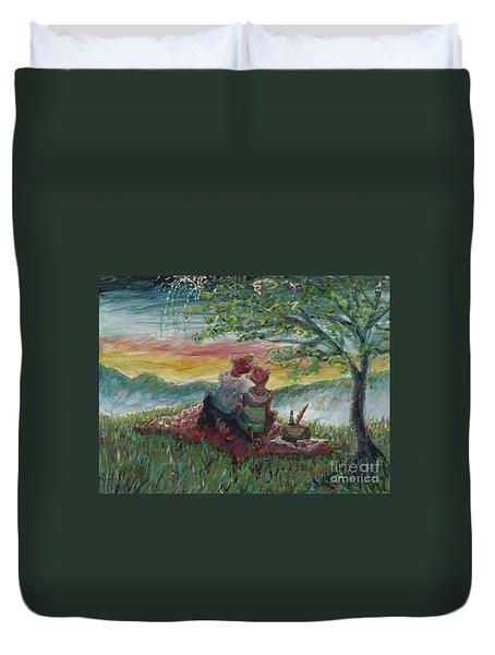 Independance Day Pignic Duvet Cover by Nadine Rippelmeyer